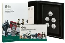More details for 2019 celebrating 50 years british military 50p fifty pence proof 5 coin set bnib