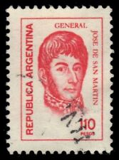 "ARGENTINA 1105  (Mi1325) - Jose de San Martin ""1978 Rose Red"" (pf22098)"