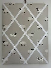 Hand Made Fabric Notice Board In Sophie Allport Sheep Fabric