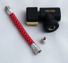 COMPACT CO2 CANISTER HOLDER/INFLATOR/REGULATOR/PUMP WITH INFLATION TUBE/ADAPTER