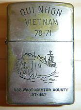 1970 - ZIPPO LIGHTER - QUI NHON - US NAVY - LST 1167 - 1971 - VIETNAM WAR, 0954