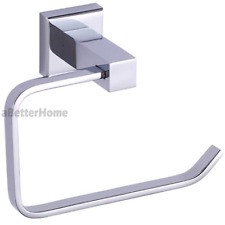 Square Bathroom Toilet Paper Roll Holder Wall Mount Tissue Roller Rack W/T Cover