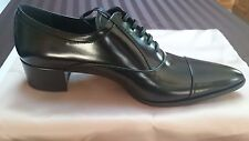 Prada Woman's Trendy  Polished Leather Lace-up Oxford 38.5