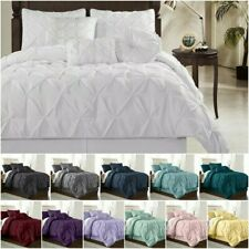 Chezmoi Collection Sydney Pinch Pleat Pintuck Bedding Comforter Set 12 Colors