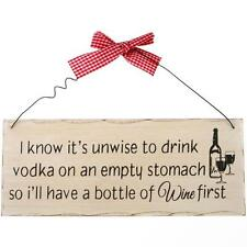 Plaque Gift - Vintage Design - I Know It Is Unwise WP_37114