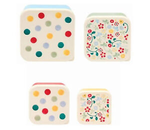 Emma Bridgewater Set of 4 Snack Tubs/Food Storage Containers - Polka Dots