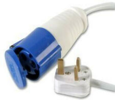 6M Mains electric hook up adaptor UK 16A Socket 13A Plug Caravan Converter Metre