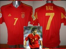 Spain Espana RAUL Shirt Jersey Football Soccer Adidas Adult XL Real Madrid Top