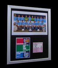 MANCHESTER CITY 1970 LEAGUE CUP FINAL LTD No'd FRAMED+EXPRESS GLOBAL SHIPPING