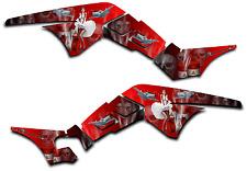 HONDA TRX250R GRAPHICS DECAL KIT AMERICAN HERO TRX 250 R STICKER PINUP RED