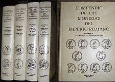 COMPENDIO DE LAS MONEDAS DEL IMPERIO ROMANO. 4 VOLUMENES. JUAN R.CAYON, MADRID.
