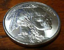 1 oz .999 fine pure silver American Indian Head Buffalo round art bar
