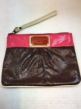 MARC by MARC JACOBS Pink and Burgundy Patent Leather Wristlet Clutch Purse