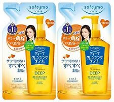 2 Pcs Kose Softymo Deep Cleansing Oil Makeup Remover Refill 200ml From Japan