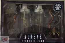 CREATURE PACK Aliens STASIS CHAMBER & FACEHUGGER LED Lights Neca 2016 Xenomorph