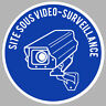 SITE SOUS VIDEO SURVEILLANCE CAMERA PROTECTION AUTOCOLLANT STICKER VA056