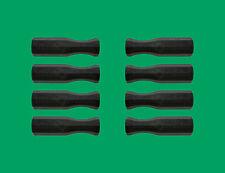 """Set of 8 Black Dynamo Style Foosball Handles for 5/8"""" Diameter Foosball Rods"""