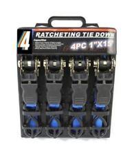 4PC HEAVY DUTY RATCHET TIE DOWN CARGO STRAPS 4.6 Metre/1 Inch-15'/25MM BLUE