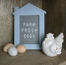 Farmhouse House Letter/Message Board NEW Blue
