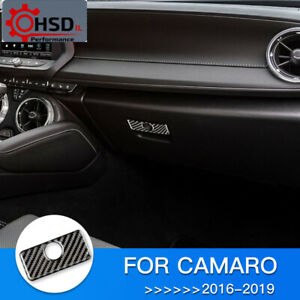 Carbon Fiber Copilot Storage Box Handle Trim For Chevrolet Camaro 2016 - 2019