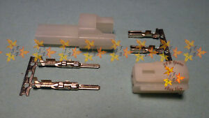 HM 2 way UNSEALED Connector, MALE & FEMALE set with pins & sockets, Sumitomo