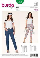 Burda Style Schnittmuster - Hose - Jeans - Caprihose - Nr. 6951