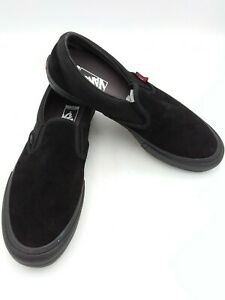 """Vans """"Off The Wall"""" Pro Slip On Men's Size 11.5 Black/Black Suede Shoes Sneakers"""