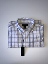The Men's Store at Bloomingdale's Plaid Regular Fit Button-Down Shirt Blue XL
