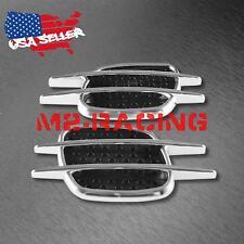 Universal Chrome Stripe Black Fender Grill Body Side Vents Car SUV Decoration