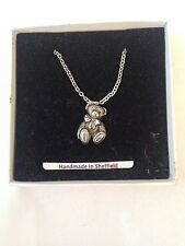 "Langdale Ted PP-G71  Emblem on Silver Platinum Plated Necklace 18"""