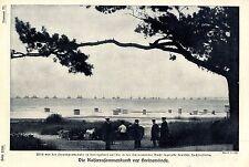 Strandpromenade in Heringsdorf mit Blick auf die deutsche Hochseeflotte 1907