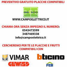 Preventivo Bticino Living Light, Matix, Axolute, Air, Stock Placche Interruttori