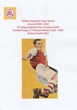Ray DANIEL Arsenal 1948-1953 rara originale firmato a mano Rivista di taglio