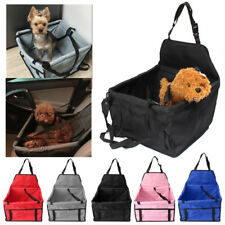 Dog Cat Pet Safety Car Seat Cover Booster Soft Travel Bag Mat Cage Carrier Black