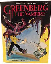 Marvel Graphic Novel #20 Greenberg the Vampire by J.M. DeMatteis & Mark Badger