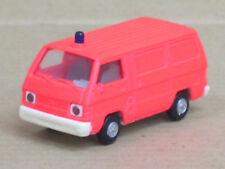 Mitsubishi L 300 Transporter Feuerwehr in leuchtrot, o. OVP, Rietze, 1:87