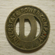 Interstate Power Company (Dubuque, Iowa) transit token - IA310F