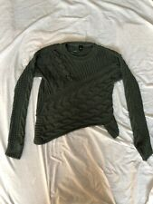 River Island Cable Knit Jumper - Green - UK 10