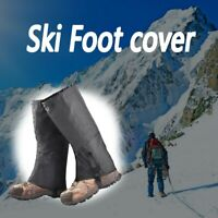 Leg Gaiters Waterproof Snow Boot Gaiters Anti-Tear Fabric for Outdoor