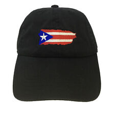 Flag Puerto Rico Island Black Adjustable Strapback Cap Dad Hat Isla Del Encanto