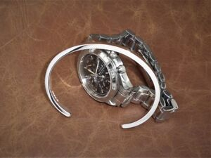 Men's Gents Solid 925 Sterling Silver Open Rectangular Torque, Bangle, Bracelet