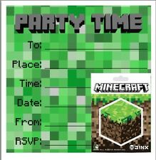 Party / Birthday Invites / Invitations with Minecraft Sticker!