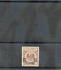GERMAN OIFFICES IN TURKEY Sc 12(MI 10d)*VF LH 1889 21/2P?50pf RED BROWN $75