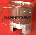 ROTHCO Stainless Steel 512 CANTEEN CUP & 918 MRE STOVE / STAND & LID SETUP NIB