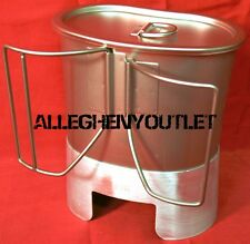 ROTHCO Stainless Steel 512 CANTEEN CUP & 918 MRE STOVE / STAND & LID SETUP NIB