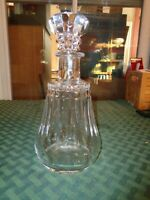 "Baccarat Crystal Piccadilly Wine Decanter & Stopper 10"" Whiskey France Vintage"