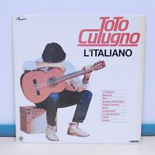 """33T Toto CUTUGNO Disque Vinyl LP 12"""" L'ITALIANO - DONNA DONNA MIA - CARRERE 681"""