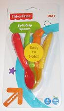 Soft Grip Spoons Fisher Price Set of 4 Deep Scoop 9 Months + Veggies Fruit New