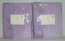 "POTTERY BARN KIDS Lucy Velvet 44x63"" BLACKOUT Panel Drape-SET OF 2-LAVENDER-NEW"