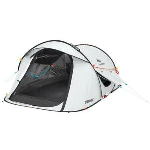 Decathlon - 2 Second Pop Up Fresh & Black Camping Tent 2 Person